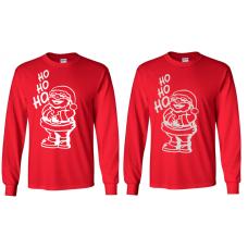 Christmas - Santa Ho-Ho-Ho  Red Long Sleeved T-Shirt