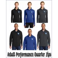 Dream Big QHS Quarter-Zip Performance Pullovers