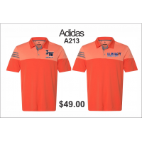 Illini West Golf adidas Heather 3-Stripes Block Sport Shirt