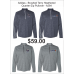 Illini West Golf adidas Brushed Heathered Terry Quarter-Zip Pullover