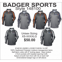 Illini West Golf Loose Fusion Quarter-Zip Pullover by Badger Sports