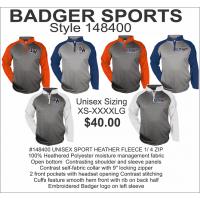 Illini West Golf Quarter-Zip Moisture Management Pullover by Badger Sports