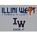Illini West Golf Bella + Canvas 3/4 Length Sleeve Baseball Shirt