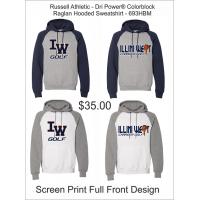 Illini West Golf Russell Athletic Colorblock Raglan Hoodie