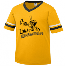 Iowa Alumni Marching Band Two-Stripe V-Neck Jersey