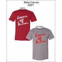 Liberty Volleyball 100% Cotton Short-Sleeved T-Shirt