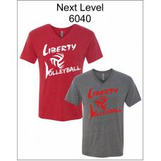 Liberty Volleyball V-Neck Triblend Short Sleeve T-Shirt