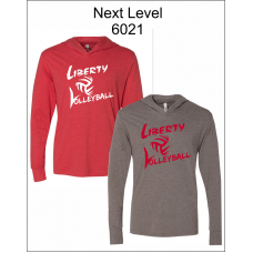 Liberty Volleyball Triblend Hooded Long Sleeve Pullover T-Shirt