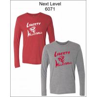 Liberty Volleyball Long Sleeve Triblend T-Shirt