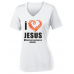 March for Jesus Ladies Performance Wicking V-Neck T-Shirt