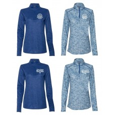 Payson Seymour Volleyball Ladies' Cut Marbled Quarter-Zip Pullover