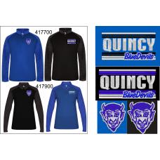 QHS Spirit Wear Sport Tonal Blend 1/4 Zip Pullover
