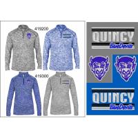 QHS Spirit Wear Marbled 1/4-Zip Jacket