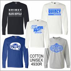 QHS Spirit Wear 100% Cotton Long Sleeve Shirt