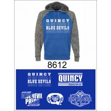 QHS Spirit Wear Colorblock Cosmic Fleece Hoodie