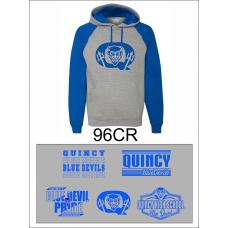 QHS Spirit Wear 50/50 Colorblock Hoodie