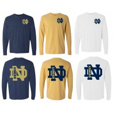 QND Long Sleeved T-Shirt with Logos on Front and Back