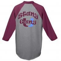 "Unity Baseball Jersey with ""Stang Gang"" Slogan"