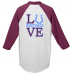 "Unity Baseball Jersey with ""LUVE"" and Mustangs"