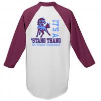 "Unity Baseball Jersey with ""Stang Thang"" Slogan"